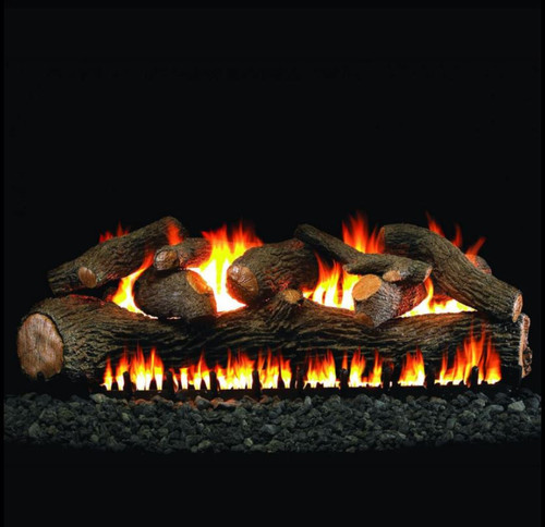 Peterson Real Fyre 36-Inch Mammoth Pine Log Set With Vented Natural Gas EPIC Burner - Match Light