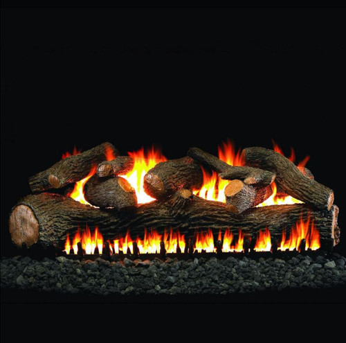 Peterson Real Fyre 48-Inch Mammoth Pine Log Set With Vented Natural Gas EPIC Burner - Match Light