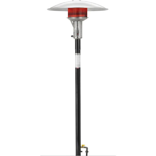 Sunglo 50000 BTU Natural Gas Post-Mount Patio Heater With Electronic Ignition - Black - PSA265V E SS