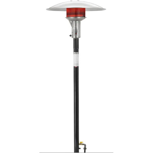 Sunglo 50000 BTU Natural Gas Post-Mount Patio Heater With Manual Ignition - Black - PSA265