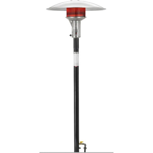 Sunglo 50000 BTU Natural Gas Post-Mount Patio Heater With Standing Pilot - Black - PSA265V
