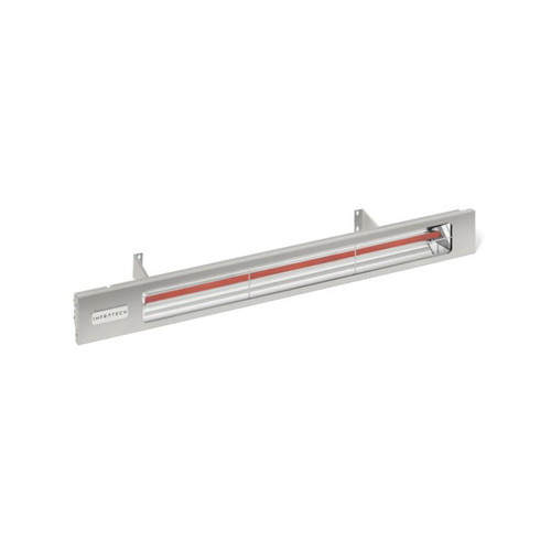 Infratech Slimline Series 29 1/2-Inch 1600W Single Element Electric Infrared Patio Heater - 120V - Silver - SL1612SV