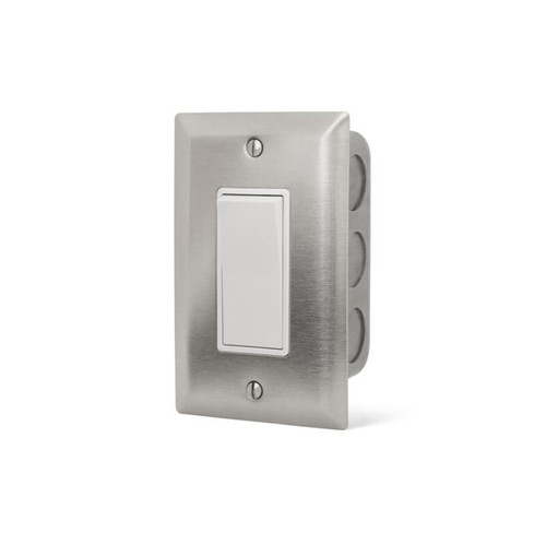 Infratech Single On/Off Wall Plate Switch And Gang Box - 14-4400