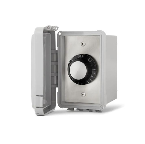 Infratech 120V Single Input Regulator Stainless Steel Surface Mount Plate With Deep Gang Waterproof Box And Cover - 14-4120