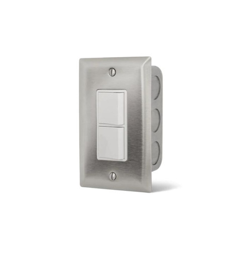 Infratech 240V Flush Mount In-Wall Single Stacked Duplex Switch - 14-4300