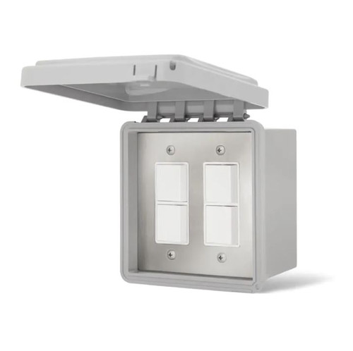 Infratech 240V Surface Mount Weatherproof Dual Stacked Duplex Switch - 14-4325