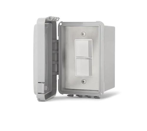 Infratech 240V Surface Mount Weatherproof Single Stacked Duplex Switch - 14-4320