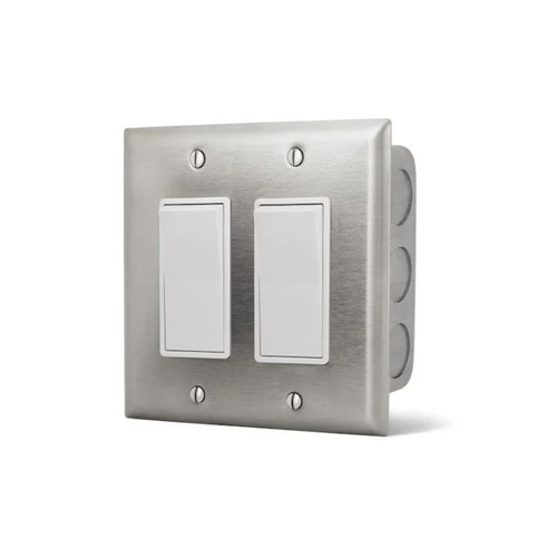 Infratech Dual On/Off Wall Plate Switch And Gang Box - 14-4405