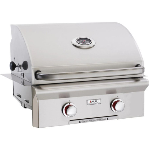 American Outdoor Grill T-Series 24-Inch 2-Burner Built-In Propane Gas Grill - 24PBT-00SP