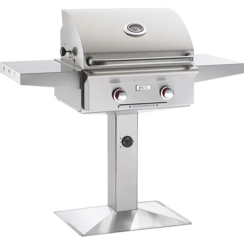 American Outdoor Grill T-Series 24-Inch 2-Burner Propane Gas Grill On Pedestal - 24PPT-00SP