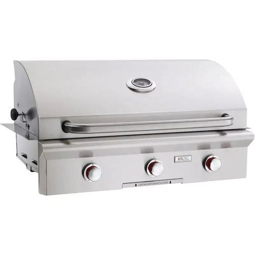 American Outdoor Grill T-Series 36-Inch 3-Burner Built-In Natural Gas Grill - 36NBT-00SP