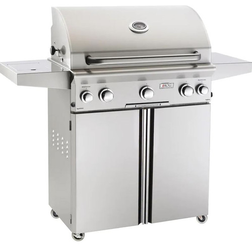 American Outdoor Grill L-Series 30-Inch 3-Burner Natural Gas Grill W/ Rotisserie & Single Side Burner - 30NCL