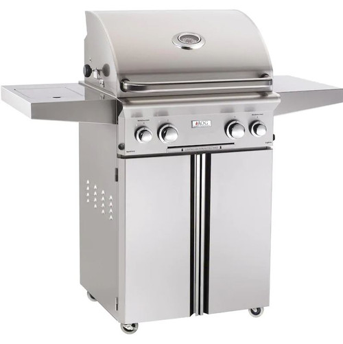 American Outdoor Grill L-Series 24-Inch 2-Burner Propane Gas Grill W/ Rotisserie & Single Side Burner - 24PCL