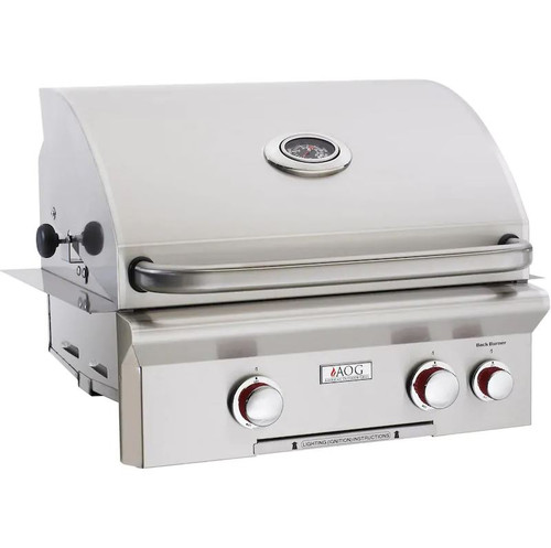 American Outdoor Grill T-Series 24-Inch 2-Burner Built-In Natural Gas Grill With Rotisserie - 24NBT