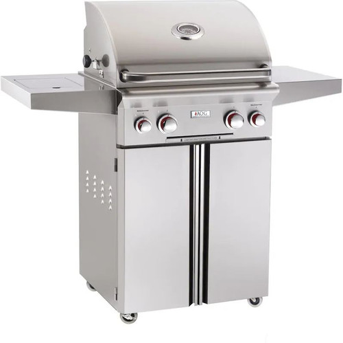 American Outdoor Grill T-Series 24-Inch 2-Burner Natural Gas Grill W/ Rotisserie & Single Side Burner - 24NCT