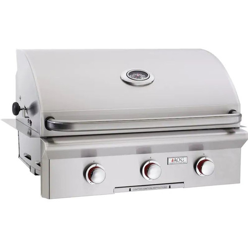 American Outdoor Grill T-Series 30-Inch 3-Burner Built-In Propane Gas Grill - 30PBT-00SP