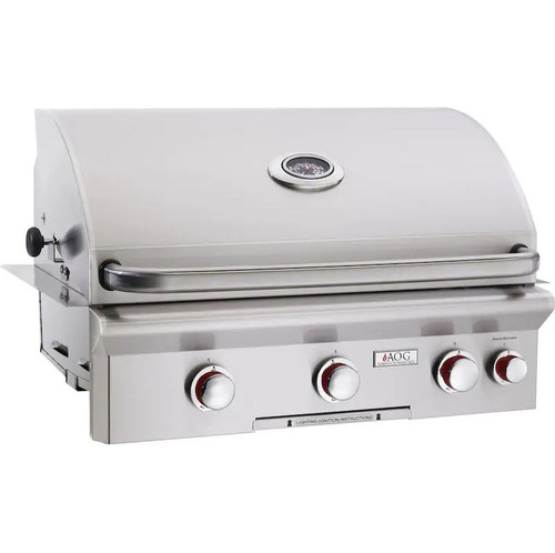 American Outdoor Grill T-Series 30-Inch 3-Burner Built-In Natural Gas Grill With Rotisserie - 30NBT