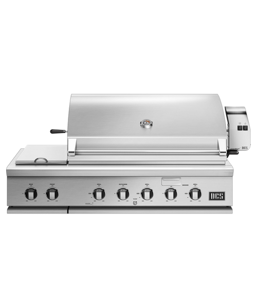 DCS Series 7 Traditional 48-Inch Built-In Propane Gas Grill With Double Side Burner & Rotisserie - BH1-48RS-L