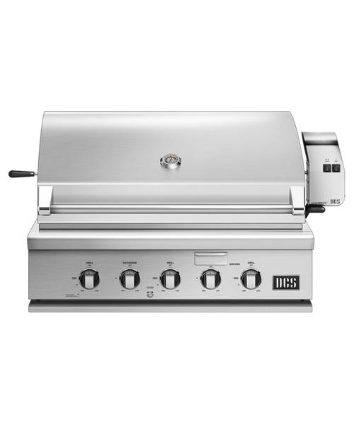 DCS Series 7 Traditional 36-Inch Propane Gas Grill With Rotisserie On DCS CAD Cart - BH1-36R-L