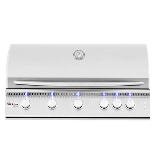 Summerset Sizzler Pro 40-Inch 5-Burner Built-In Natural Gas Grill With Rear Infrared Burner - SIZPRO40-NG