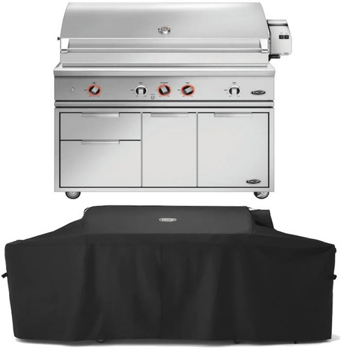 DCS Series 9 Evolution 48-Inch Natural Gas Grill W/ Rotisserie, Cart, & Grill Cover- BE1-48RC-N