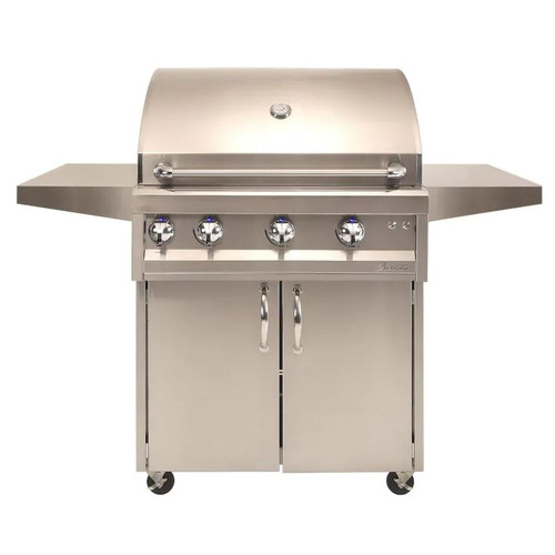 Artisan Professional 32-Inch 3-Burner Freestanding Propane Gas Grill With Rotisserie - ARTP-32C-LP