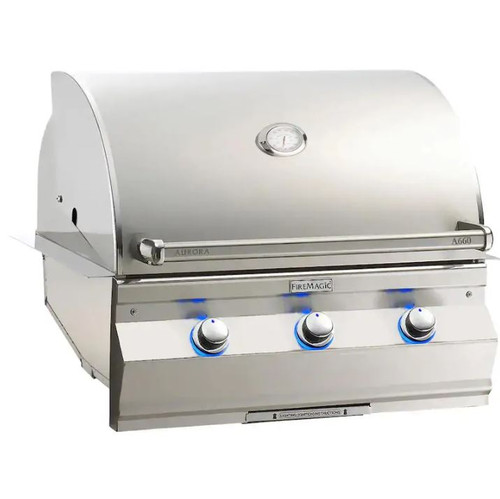 Fire Magic Aurora A660I 30-Inch Built-In Propane Gas Grill With Analog Thermometer - A660I-7EAP