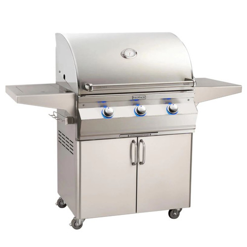 Fire Magic Aurora A660S 30-Inch Natural Gas Grill With Side Burner And Analog Thermometer - A660S-7EAN-62