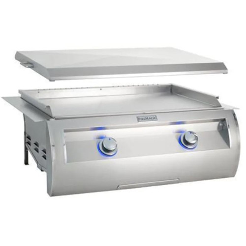 Fire Magic Echelon Diamond E660I 30-Inch Built-In Natural Gas Griddle With Stainless Steel Cover - E660I-0T4N