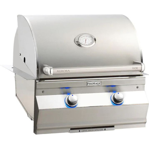 Fire Magic Aurora A430I 24-Inch Built-In Natural Gas Grill With Analog Thermometer - A430I-7EAN