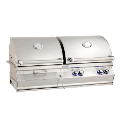 Fire Magic Aurora A830I 46-Inch Built-In Natural Gas & Charcoal Combo Grill With Analog Thermometer - A830I-7EAN-CB