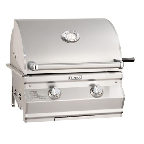 Fire Magic Choice Multi-User Accessible CMA430I 24-Inch Built-In Natural Gas Grill With Analog Thermometer - CMA430I-RT1N