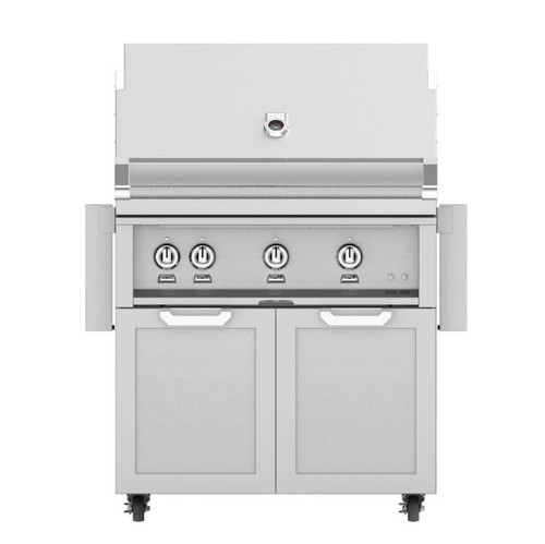Hestan 36-Inch Propane Gas Grill W/ Rotisserie On Double Door Tower Cart - Steeletto - GABR36-LP-SS