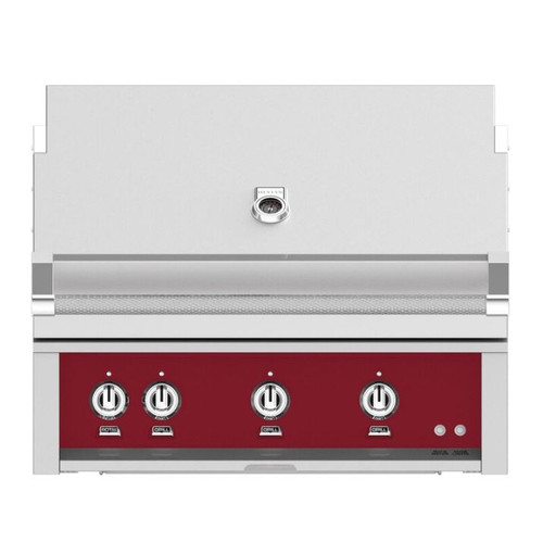 Hestan 36-Inch Built-In Natural Gas Grill W/ Rotisserie - Tin Roof - GABR36-NG-BG