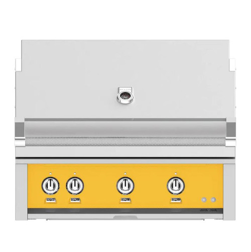 Hestan 36-Inch Built-In Natural Gas Grill W/ Rotisserie - Sol - GABR36-NG-YW