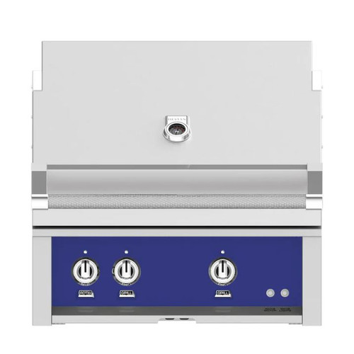 Hestan 30-Inch Built-In Natural Gas Grill W/ All Infrared Burners & Rotisserie - Prince - GSBR30-NG-BU