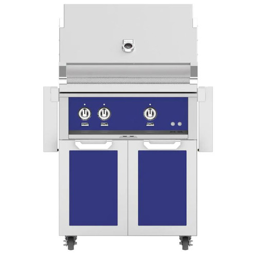 Hestan 30-Inch Natural Gas Grill W/ All Infrared Burners & Rotisserie On Double Door Tower Cart - Prince - GSBR30-NG-BU