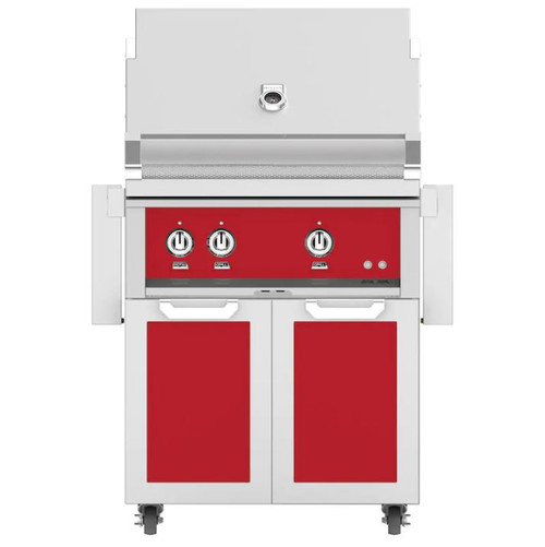 Hestan 30-Inch Natural Gas Grill W/ All Infrared Burners & Rotisserie On Double Door Tower Cart - Matador - GSBR30-NG-RD