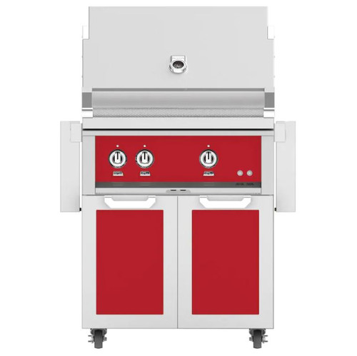 Hestan 30-Inch Propane Gas Grill W/ All Infrared Burners & Rotisserie On Double Door Tower Cart - Matador - GSBR30-LP-RD
