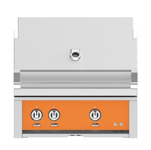 Hestan 30-Inch Built-In Natural Gas Grill W/ All Infrared Burners & Rotisserie - Citra - GSBR30-NG-OR