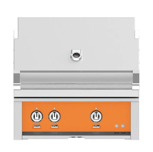 Hestan 30-Inch Built-In Propane Gas Grill W/ All Infrared Burners & Rotisserie - Citra - GSBR30-LP-OR