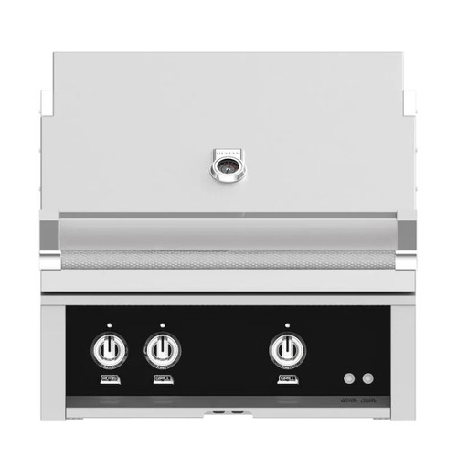 Hestan 30-Inch Built-In Propane Gas Grill W/ All Infrared Burners & Rotisserie - Stealth - GSBR30-LP-BK