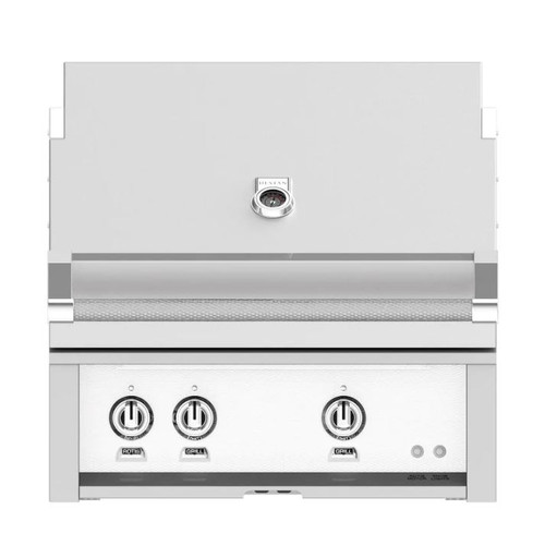 Hestan 30-Inch Built-In Propane Gas Grill W/ All Infrared Burners & Rotisserie - Froth - GSBR30-LP-WH