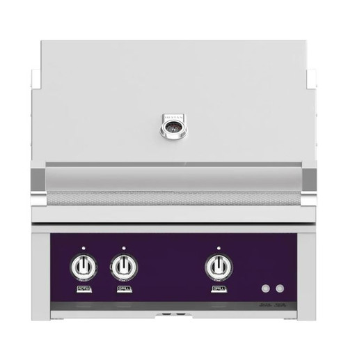 Hestan 30-Inch Built-In Propane Gas Grill W/ All Infrared Burners & Rotisserie - Lush - GSBR30-LP-PP