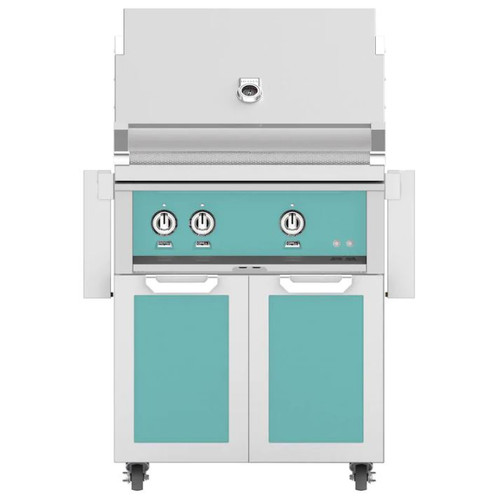 Hestan 30-Inch Natural Gas Grill W/ All Infrared Burners & Rotisserie On Double Door Tower Cart - Bora Bora - GSBR30-NG-TQ