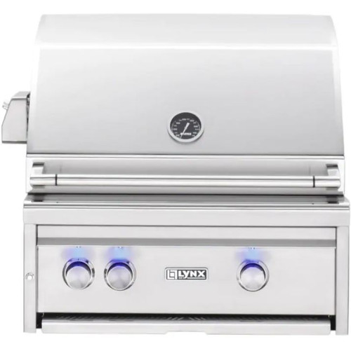 Lynx Professional 27-Inch Built-In Natural Gas Grill With One Infrared Trident Burner And Rotisserie - L27TR-NG