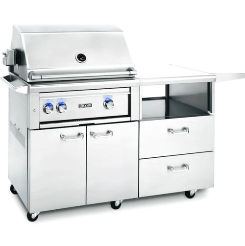 Lynx Professional 30-Inch Propane Gas Grill With One Infrared Trident Burner And Rotisserie On Mobile Kitchen Cart - L30TR-M-LP