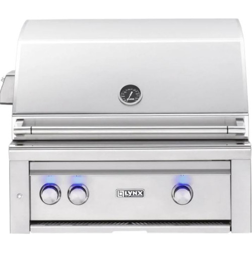 Lynx Professional 30-Inch Built-In All Infrared Trident Natural Gas Grill With Rotisserie - L30ATR-NG