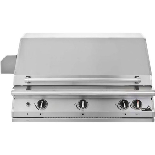 PGS Legacy Pacifica Gourmet 39-Inch Built-In Propane Gas Grill With Rotisserie