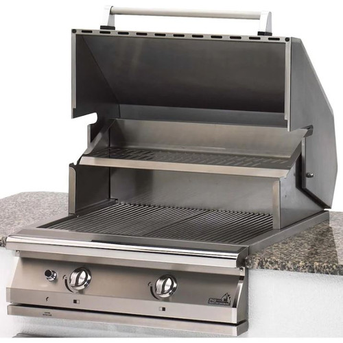 PGS Legacy Newport Gourmet 30-Inch Built-In Natural Gas Grill With Rotisserie